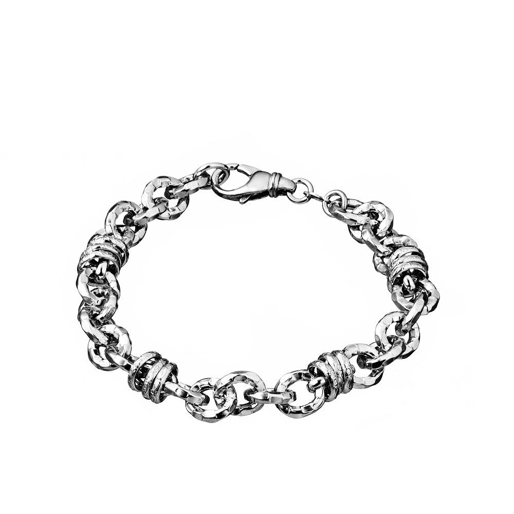Оигинальный браслет из серебра, шириной 0,8 см. Размер 21.0 • Fidelis