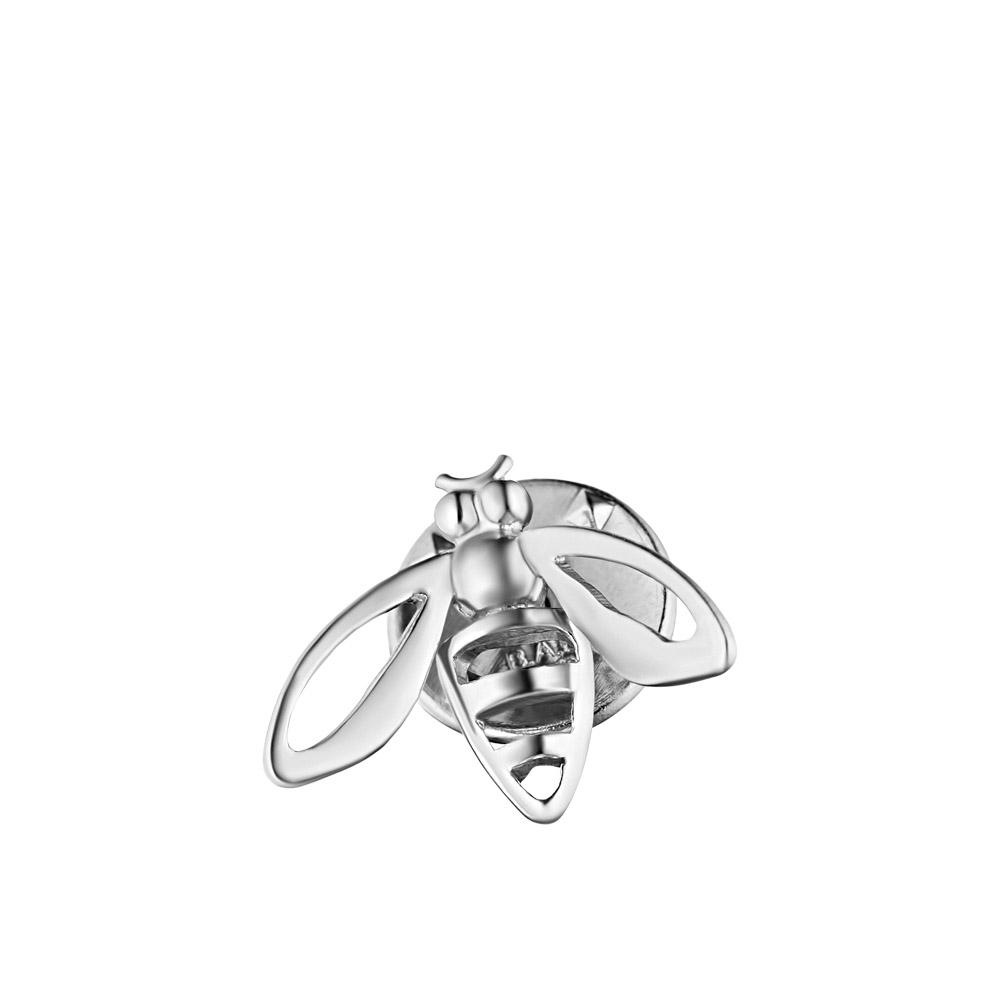 Брошь серебряная в форме пчелы • Fidelis