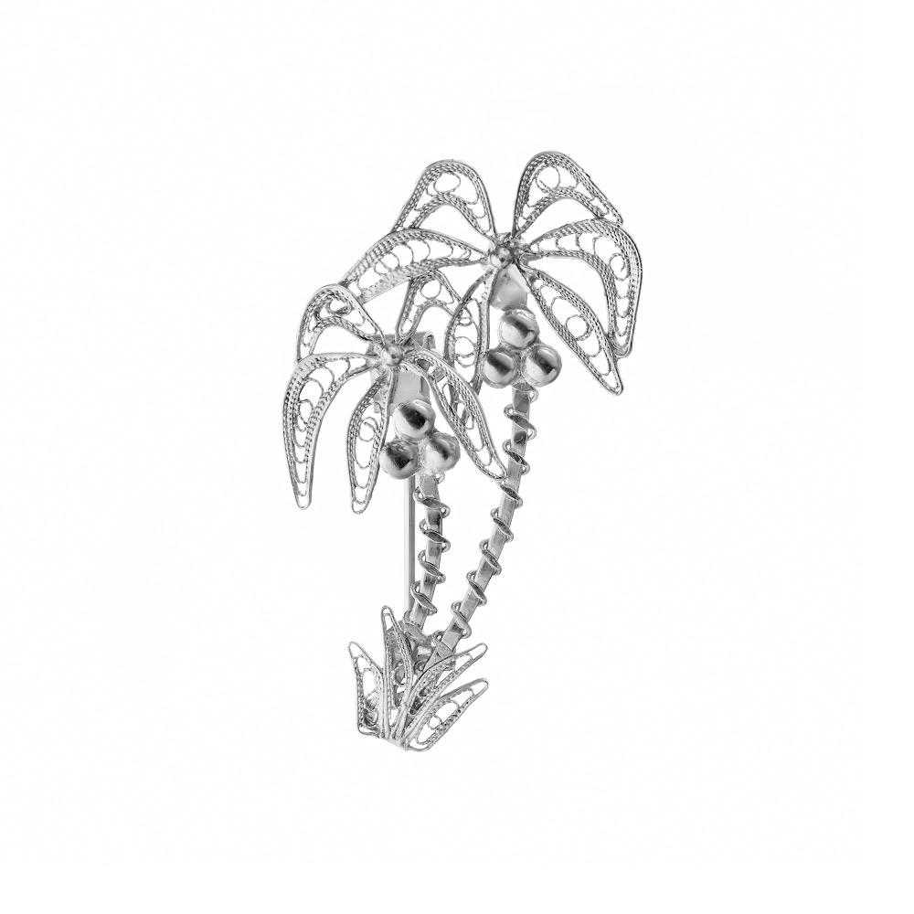 Оригинальная брошка «Пальмы», выполнена в технике филигрань • Fidelis