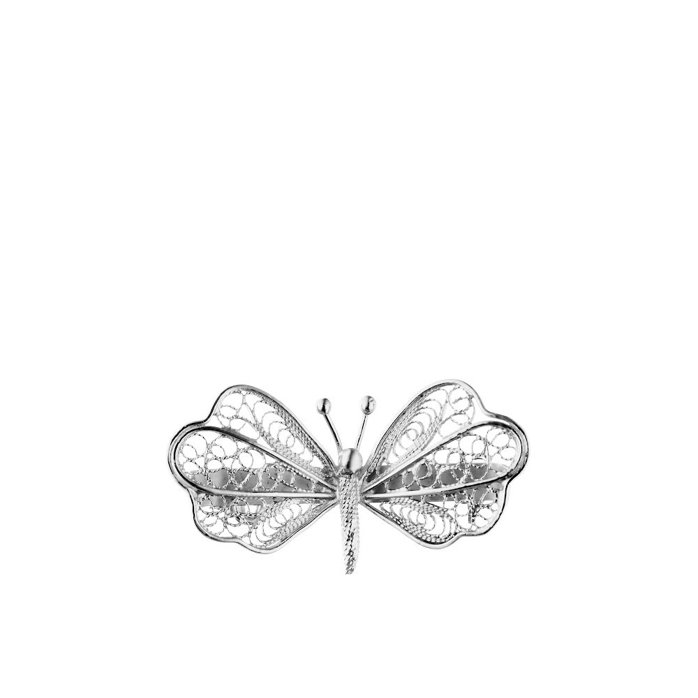 Небольшая филигранная брошка из серебра «Стрекоза» • Fidelis