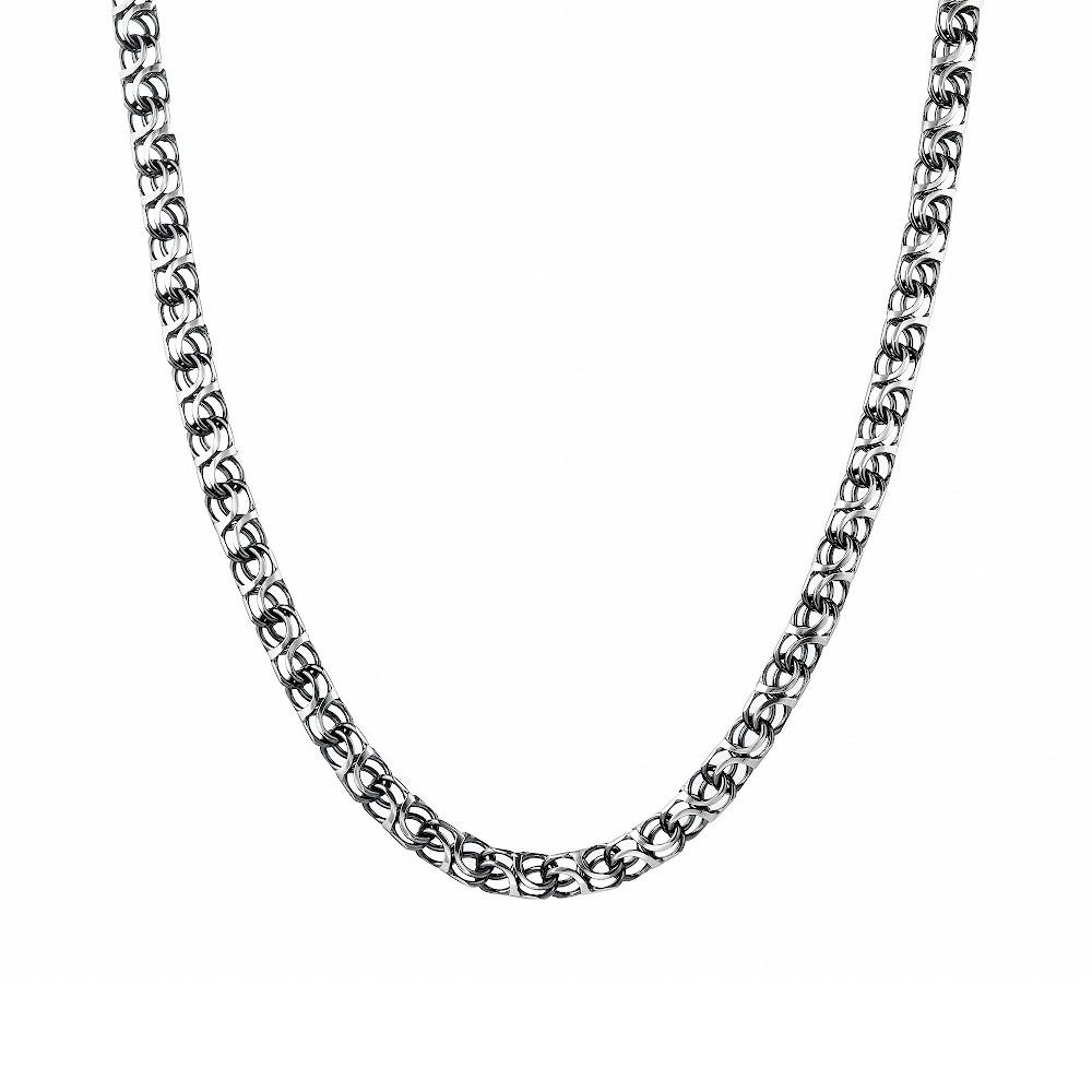 Мужская серебряная цепь оригинального плетения «Москвич» с чернением , шириной 0,5 мм. Размер 60.0 • Fidelis