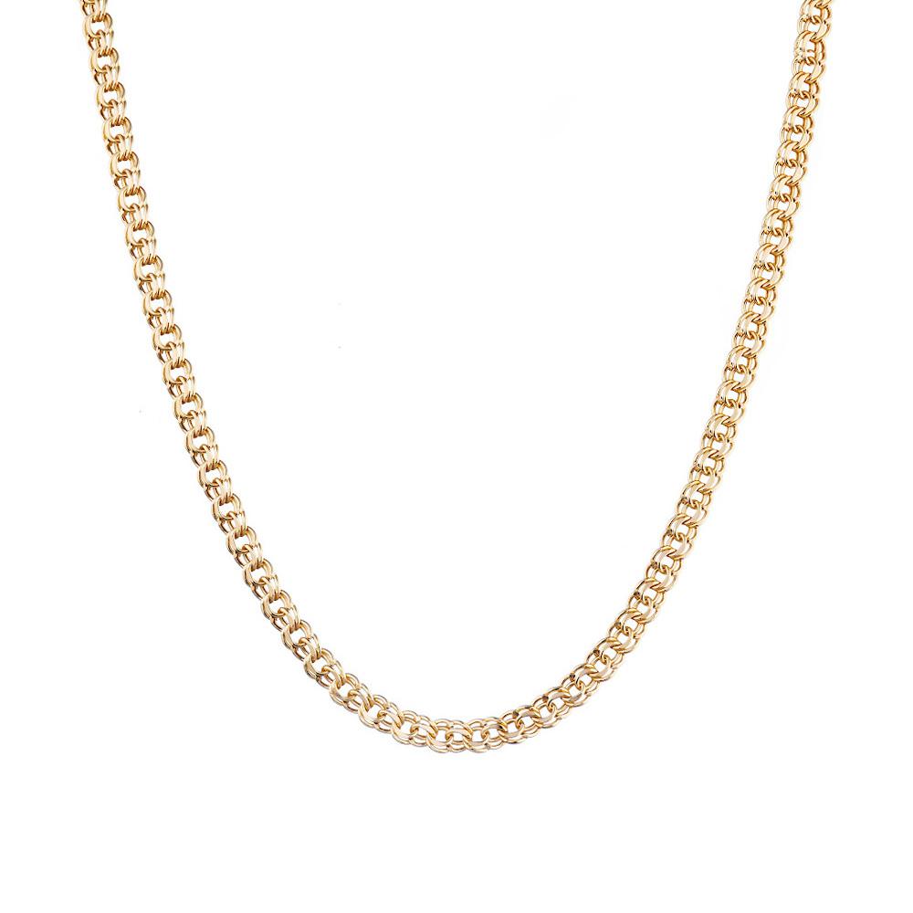 Цепь плетения «Ручной бисмарк», изготовлена из золота 585 пробы. Размер 65.0 • Fidelis