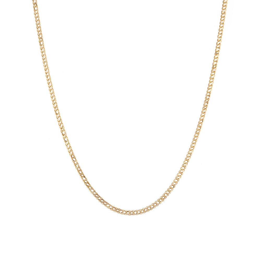 Классическая цепочка из розового золота 585 пробы, плетение- двойной ромб. Размер 45.0 • Fidelis