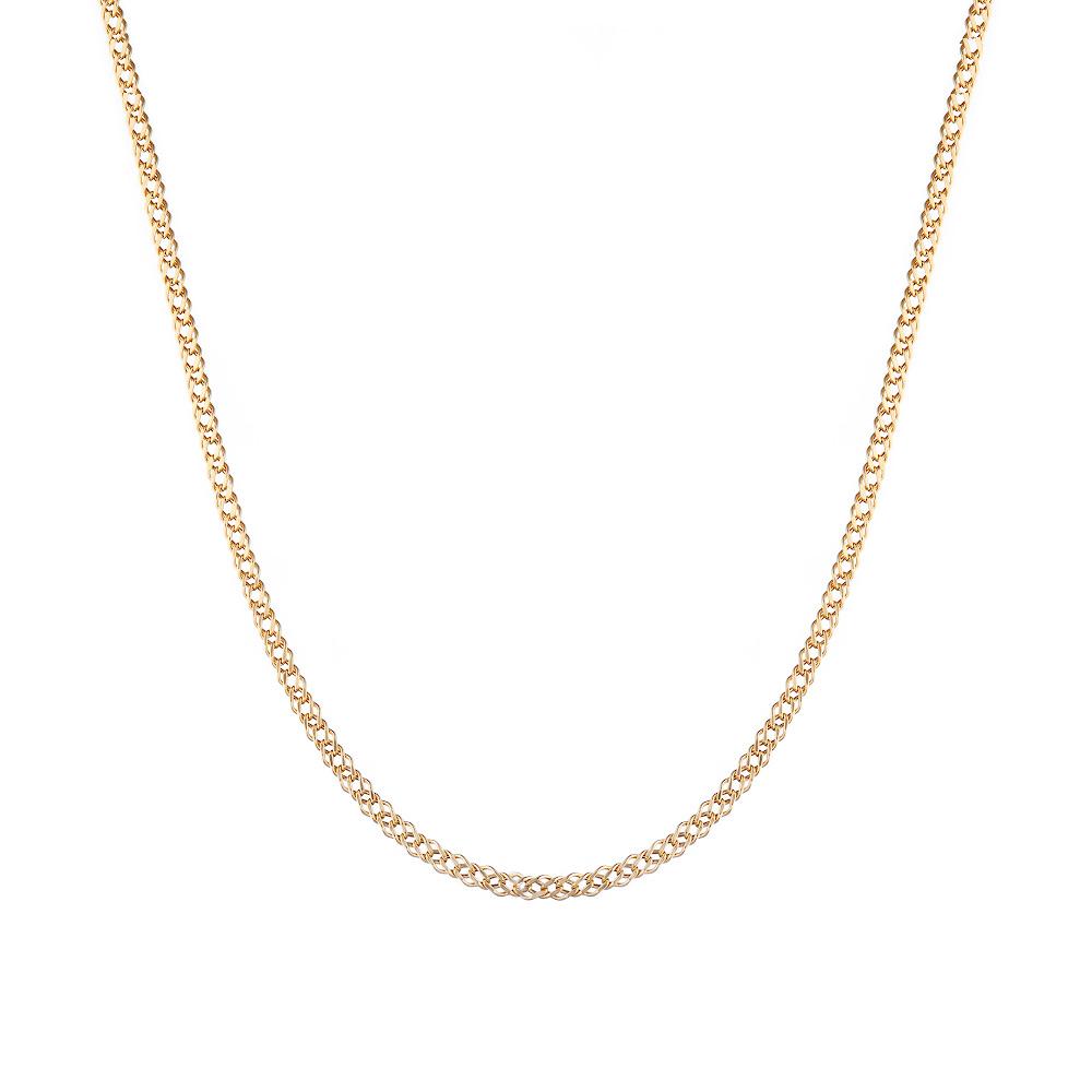 Золотая цепь 585 пробы, плетение- двойной ромб. Размер 45.0 • Fidelis