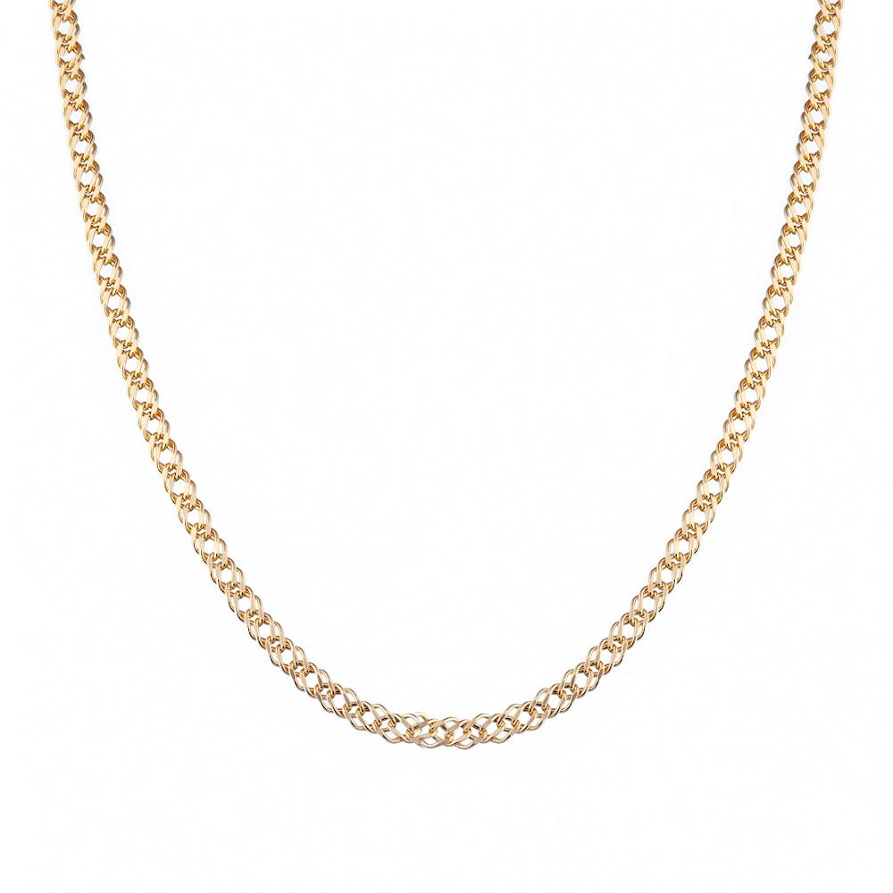 Цепочка «Двойной ромб» выполнена из золота 585 пробы. Размер 50.0 • Fidelis
