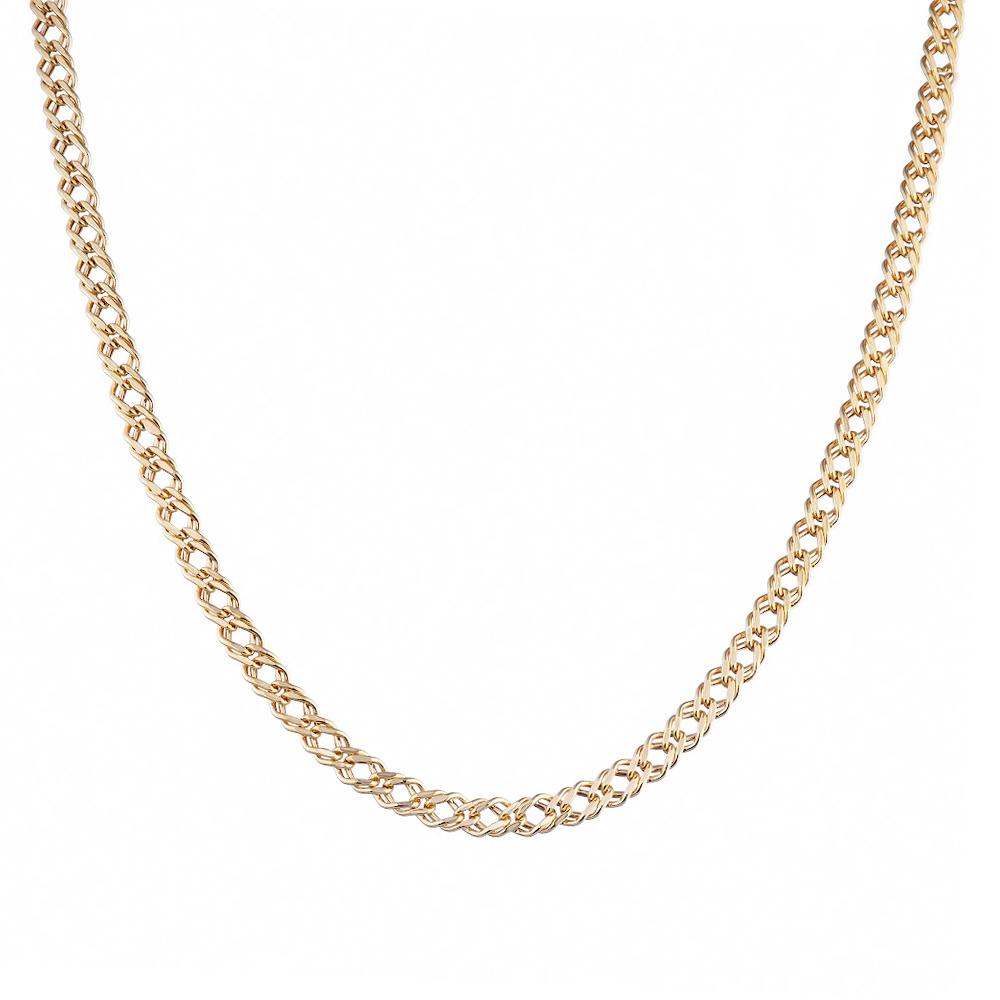 Цепь из золота 585 пробы, тип плетения- двойной ромб. Размер 60.0 • Fidelis