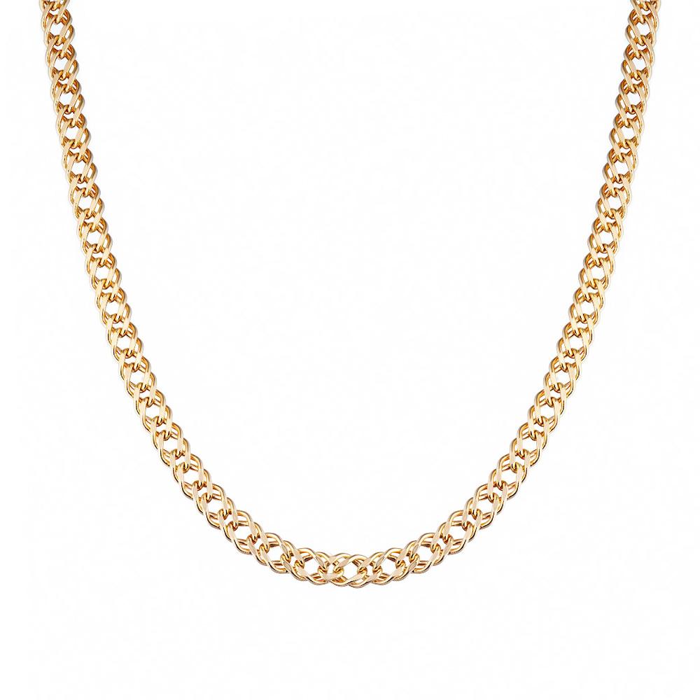 Золотая цепочка 585 пробы, плетение двойной ромб. Размер 50.0 • Fidelis
