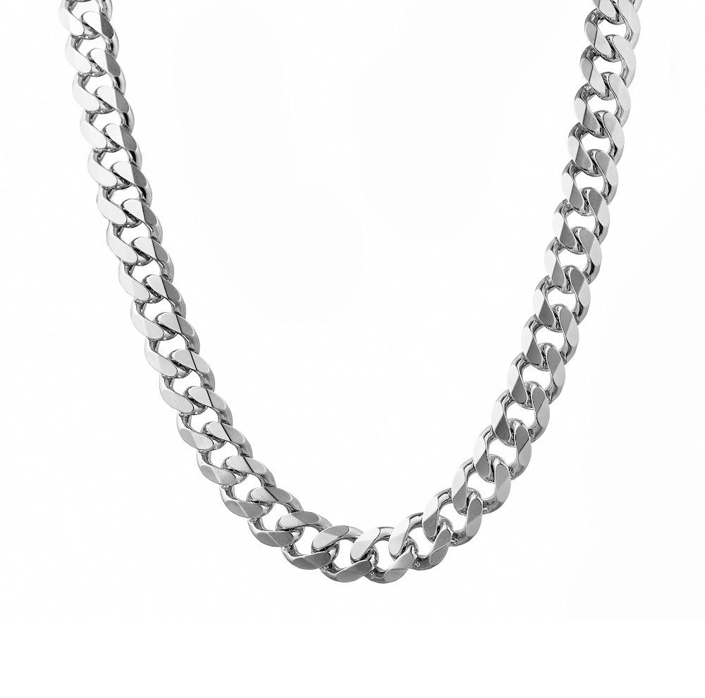 Тяжелая мужская серебряная цепь плетения «Панцирь», весом больше 100 гр., шириной 1,2 см. Размер 60.0 • Fidelis