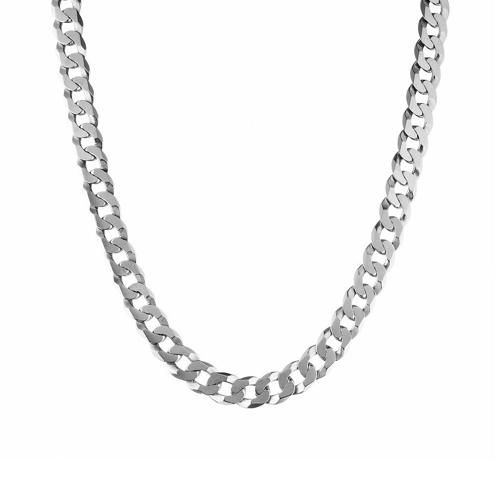 """Мужская серебряная цепь, """"Плоский панцирь"""", ширина 8 мм. Размер 60.0 • Fidelis"""