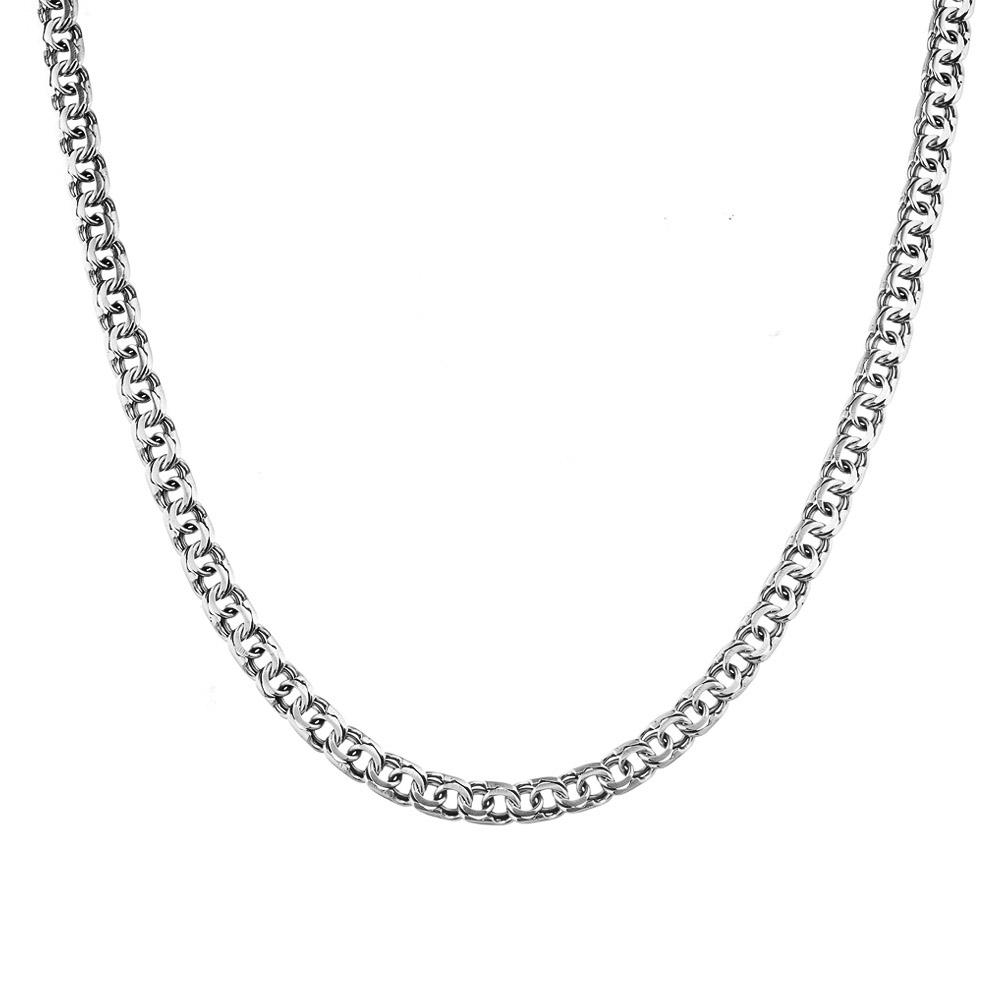 """Серебряная мужская цепочка черненно-оксидированная, шириной 0,6 см, плетение """"Ручной бисмарк"""". Размер 65.0 • Fidelis"""