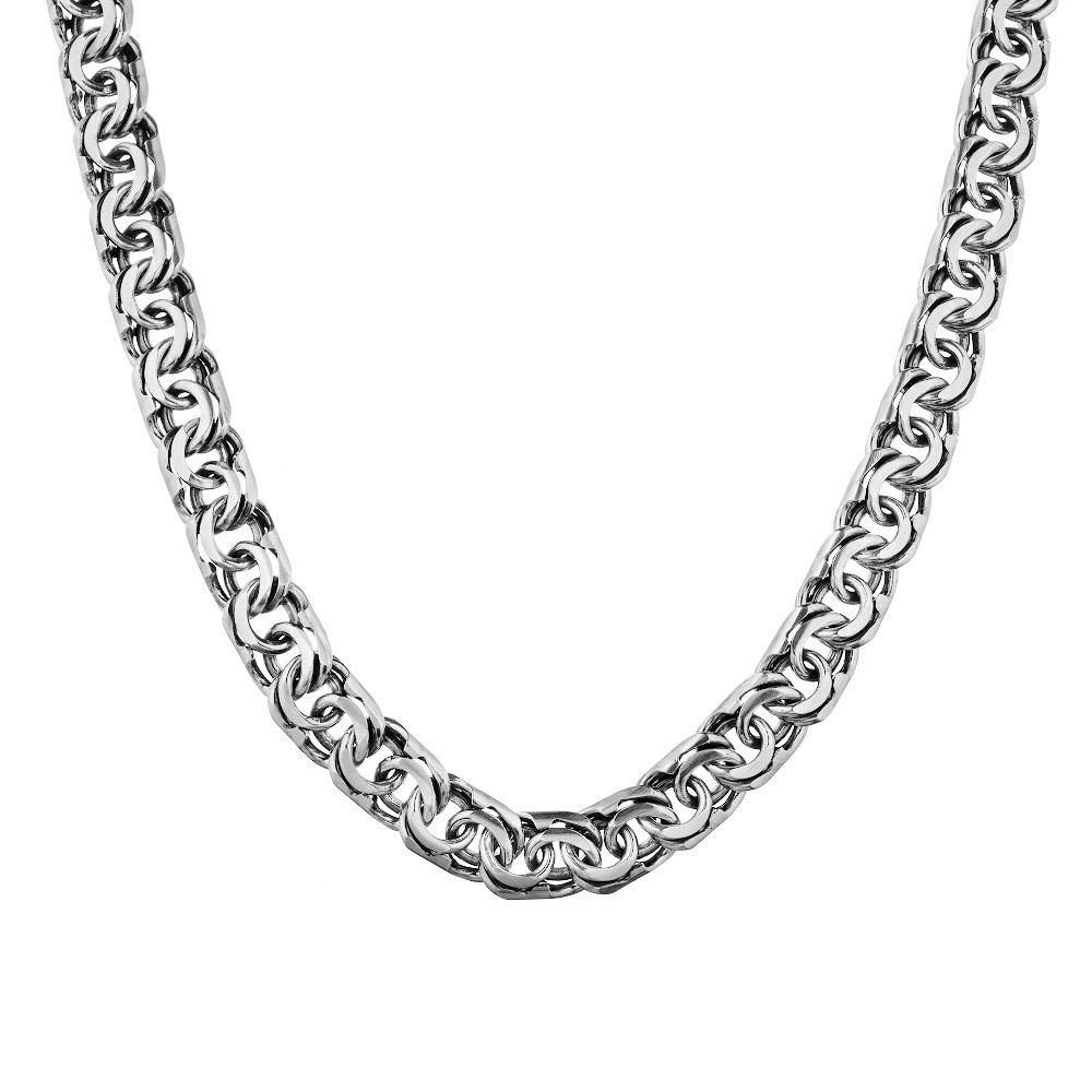 Мужская серебряная цепь, плетение ручной бисмарк, шириной 1 см. Размер 70.0 • Fidelis