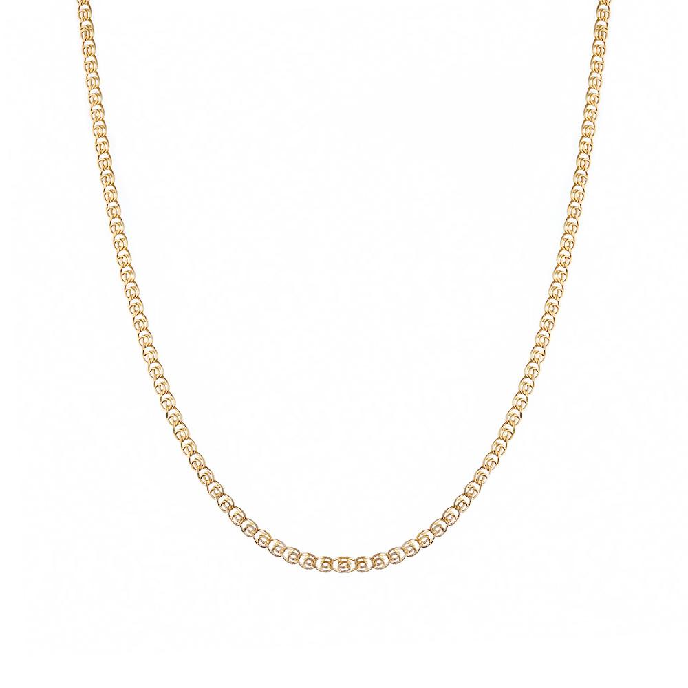 Золотая цепочка плетения лав, выполнена из золота 585 пробы. Размер 45.0 • Fidelis