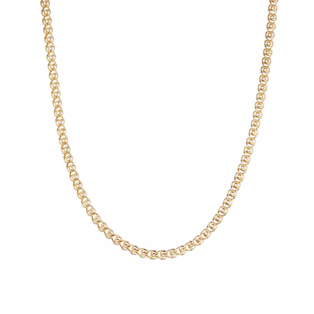 Цепочка из розового золота 585 пробы, плетение- лав. Размер 45.0 • Fidelis