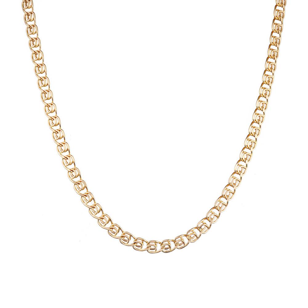 Цепь из розового золота 585 пробы, плетение- лав. Размер 50.0 • Fidelis