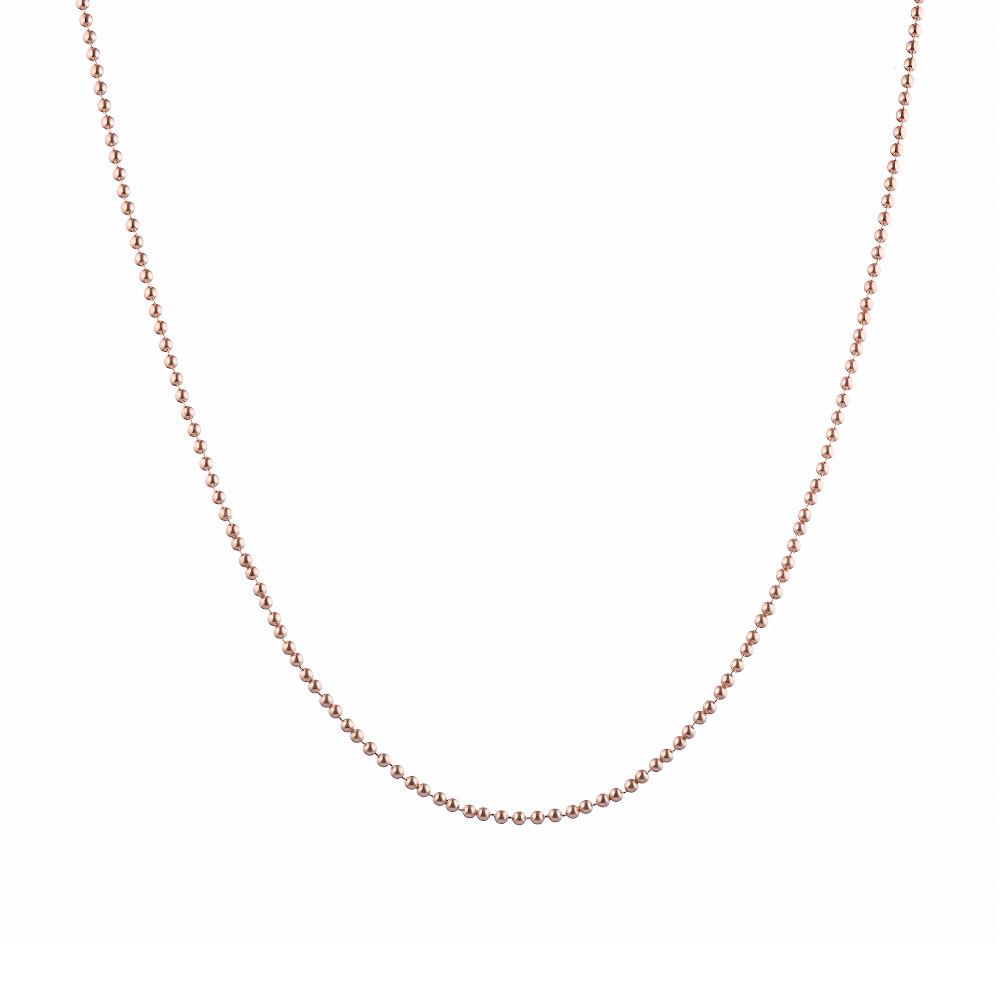 """Позолоченная серебряная цепь """"Перлина"""" ширина 1,5 мм. Размер 55.0 • Бронницкий ювелир"""