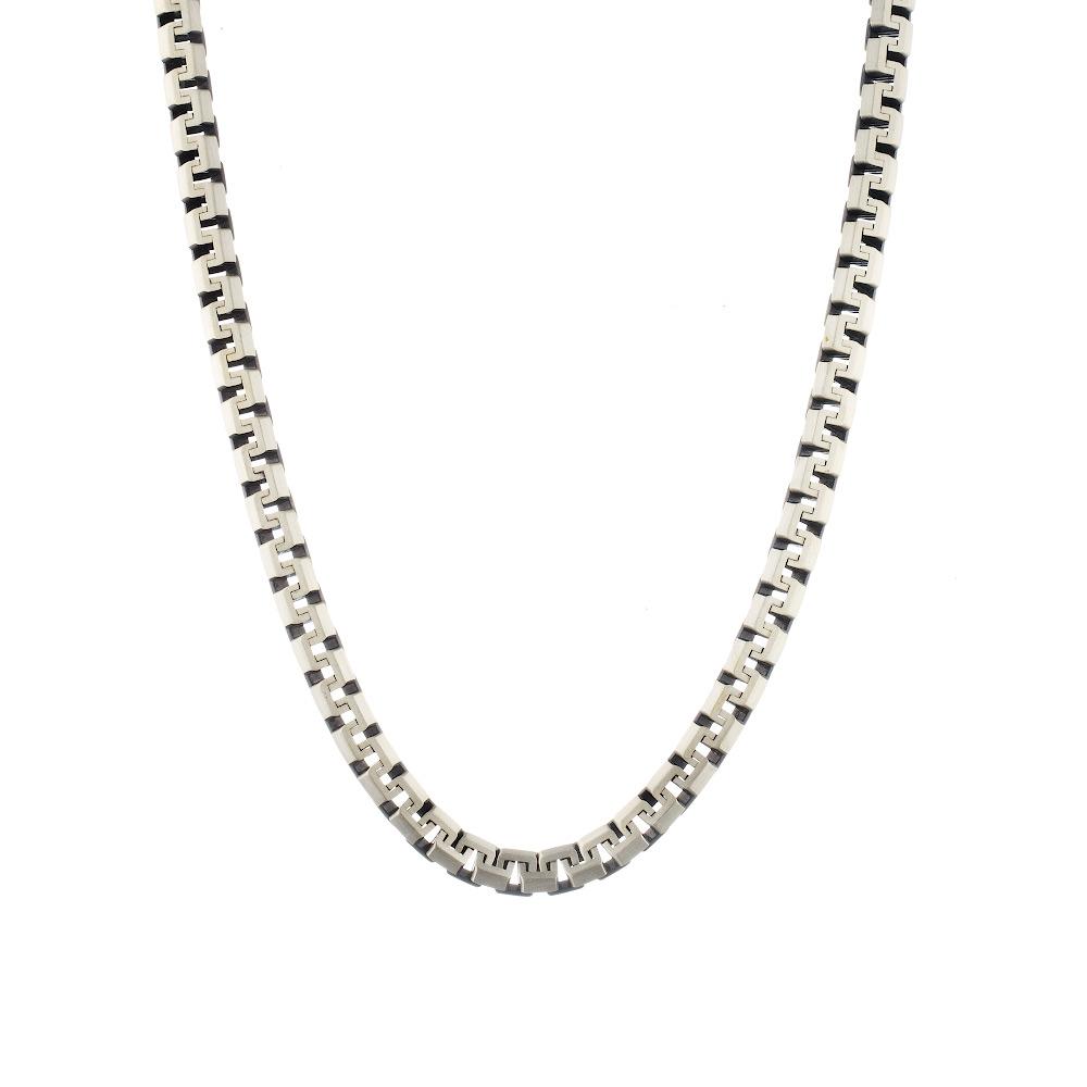 Цепь мужская из черненного серебра, плетение «сколоченный якорь», ширина 7 мм. Размер 60.0 • Fidelis
