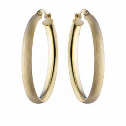 1241e11db1b8 Серьги-кольца из серебра с позолотой, и декоративными царапинами, от Orele