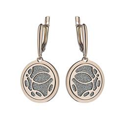 f47ea41c14b9 Итальянские серебряные серьги с глиттерингом - купить в ювелирном ...