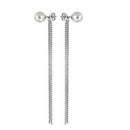 bdd17fc905c7 Итальянские серебряные серьги с искусственным жемчугом - купить в ...