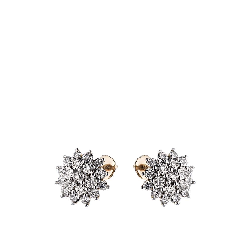 сережки гвоздики с бриллиантами цена 585