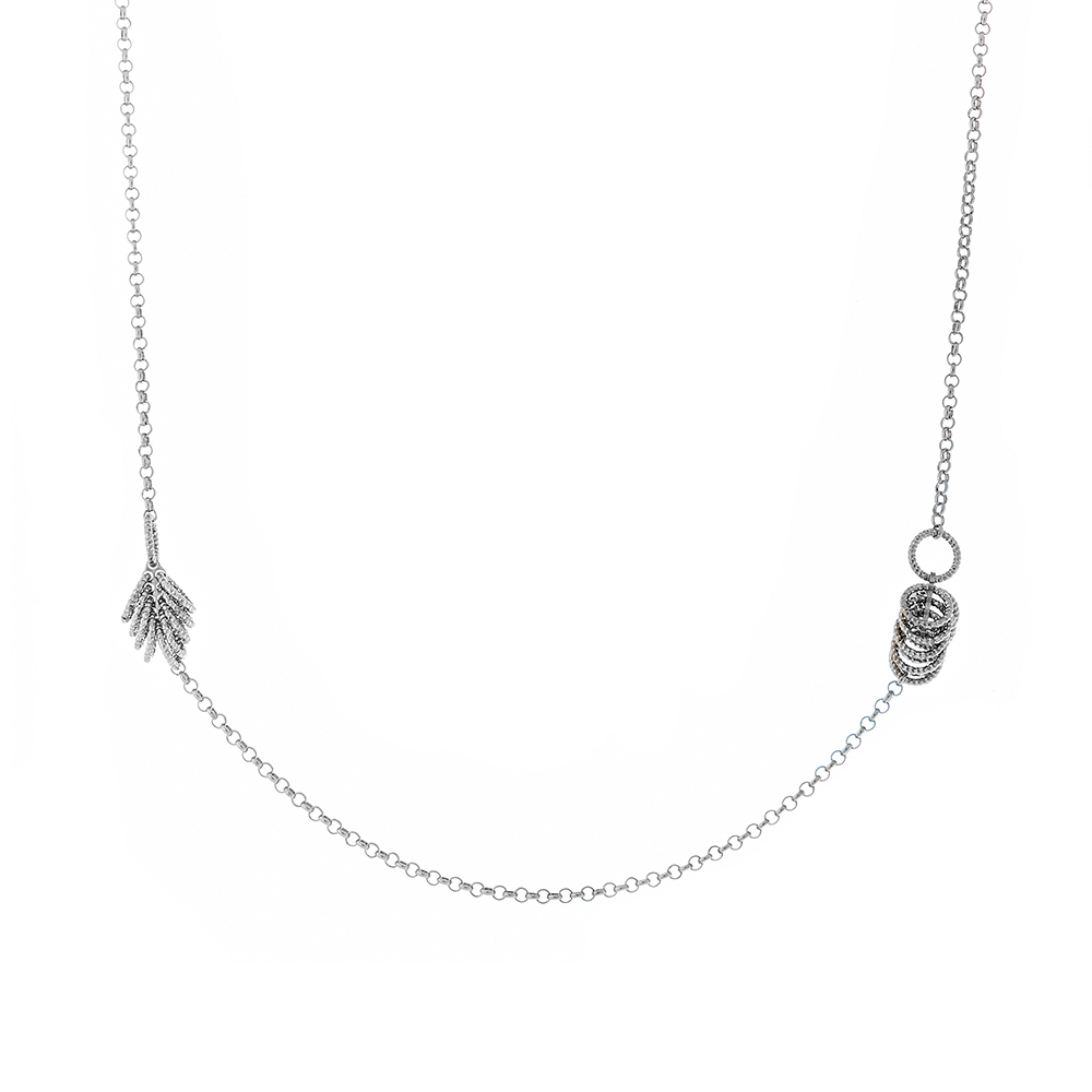 Колье женское из серебра • Fidelis