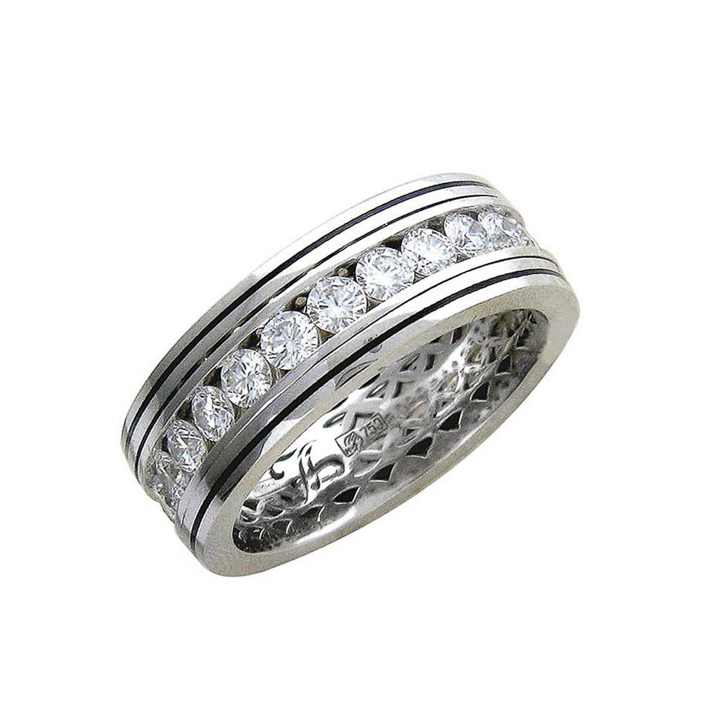 bb168447b300 Обручальное кольцо из белого золота 750 пробы с бриллиантами за 394 ...