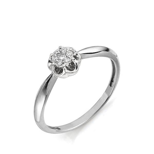 Класическое кольцо из белого золота с 7 бриллиантами за 19 350р. в ... 50e5f23784d