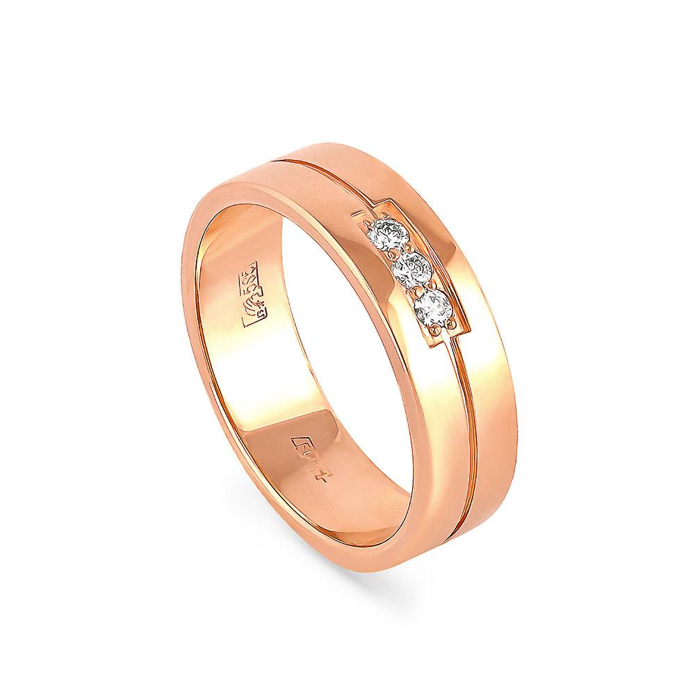 купить обручальные кольца из красного золота
