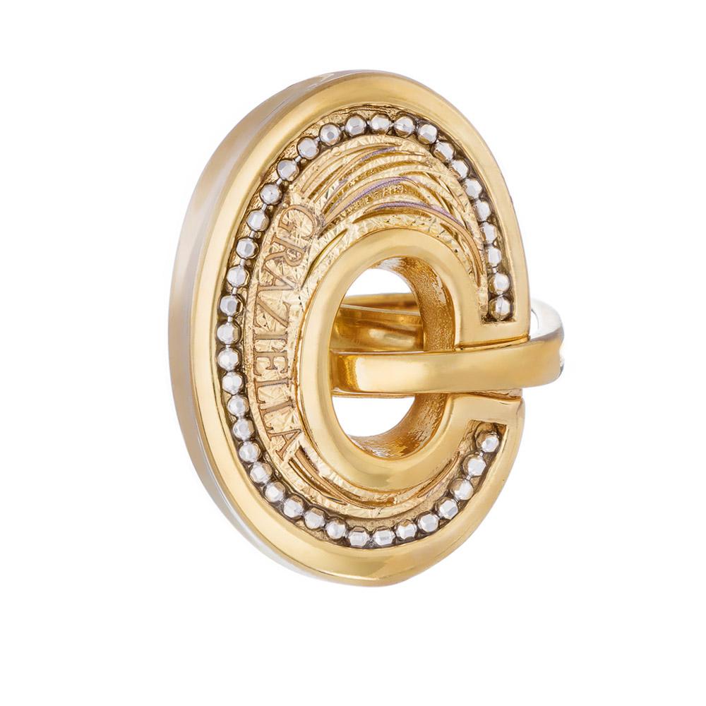 Кольцо Graziella, модель Forme 13, серебро с желтой позолотой • Graziella